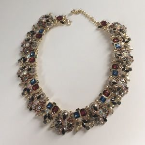 Gem stone statement necklace new!